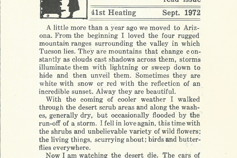 The Kitchen Stove - 41st Heating, September 1972 - Page 1