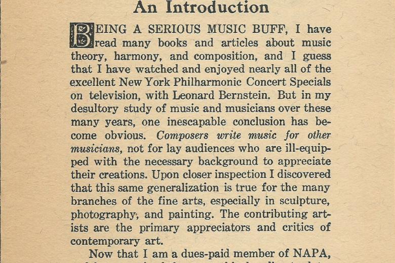 Lapsus Calamus - Number 1, October 1969 - Page 1
