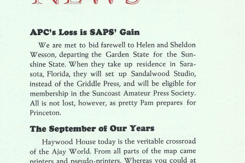 APC News - Number 124, July 1972 - Page 1