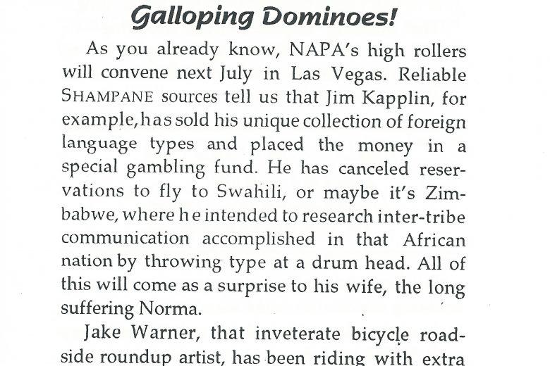 Shampane - Number 90, November 1999 - Page 1