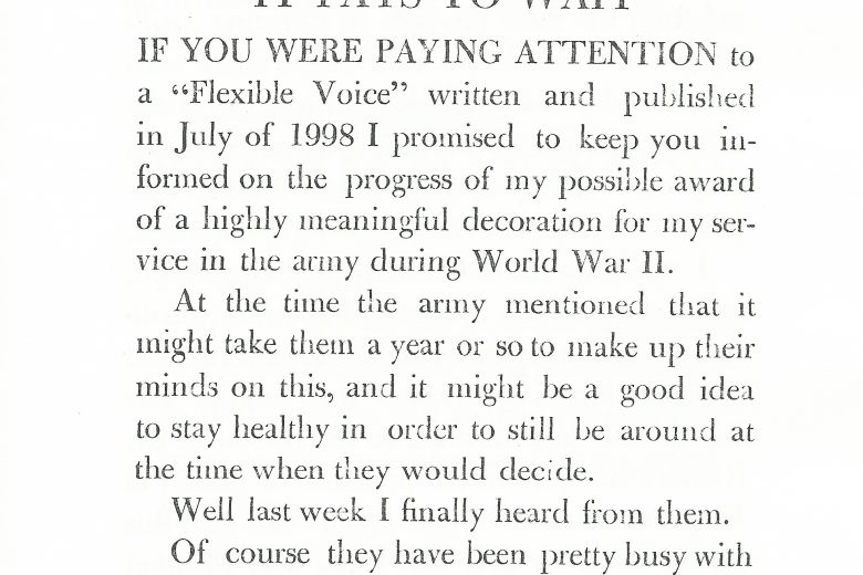 The Flexible Voice - Number 236, November 1999 - Page 1