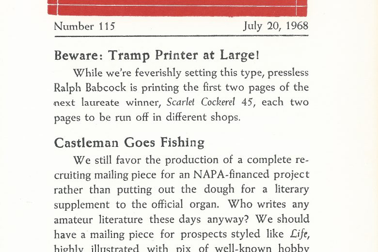 APC News - Number 115, July 1968 - Page 1