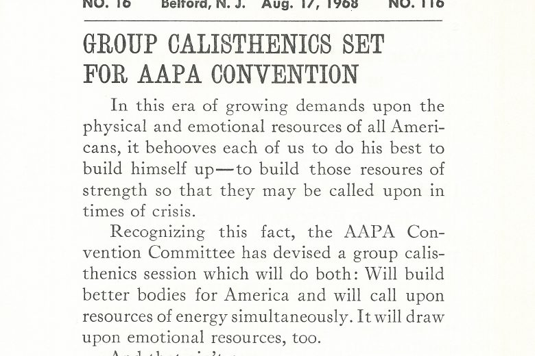APC News - Number 116 - August 1968 - Page 1