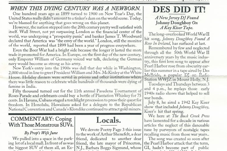 The Buck Creek Press - Number 24, September 1999 - Page 1