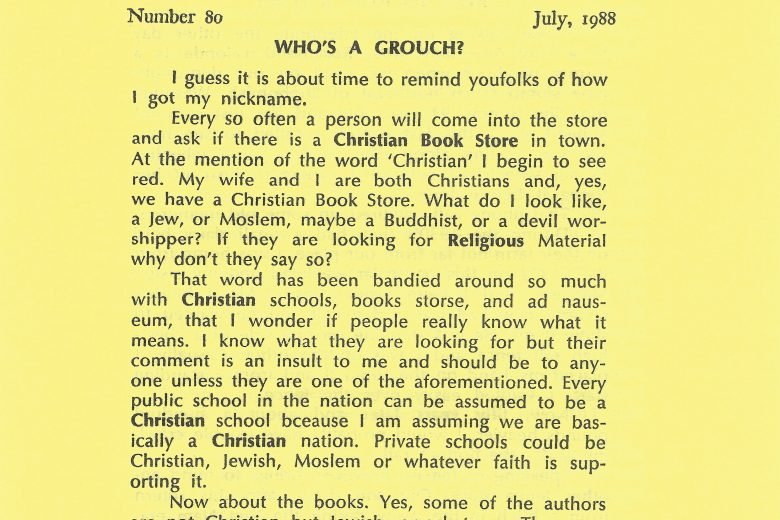 The Journal Of A Garret Grouch - Number 80, July 1988 - Page 1