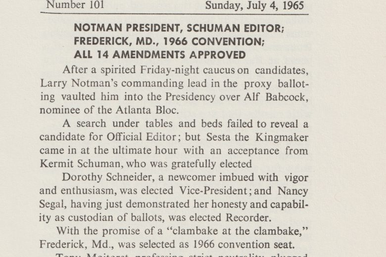 APC News - Number 101, July 1965 - Page 1