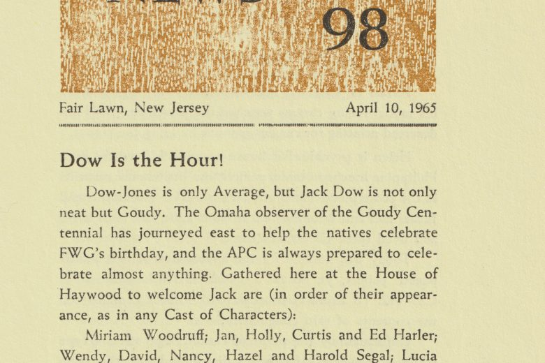 APC News - Number 98, April 1965 - Page 1