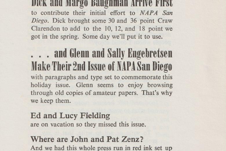 NAPA San Diego - Number 3, September 1972 - Page 1