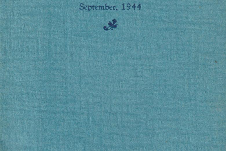 Koolinda - Number 2, September 1944 - Front Cover
