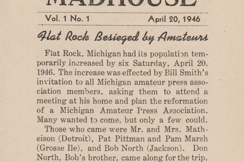 Michigan Madhouse - Volume 1, Number 1, April 1946 - Page 1
