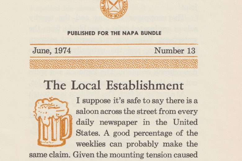 National Calamity - Number 13, June 1974 - Page 1
