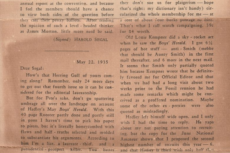 The Mail-Bag - June 1935 - Page 1