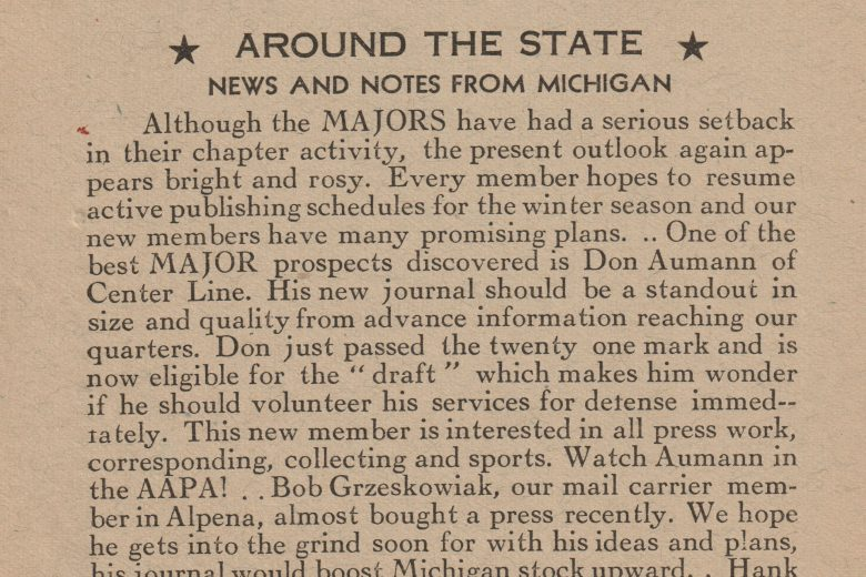 The Michigan Journalist - Volume 1, Number 2, November 1940 - Page 1