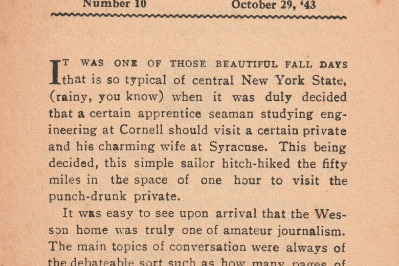 At Random - Number 10, October 1943 - Page 1