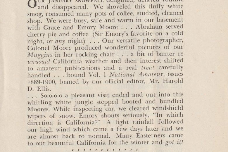 Muggins Ink - Volume 1, Number 4, April 1949 - Page 1