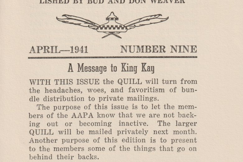 The Amateur Quill - Number 9, April 1941 - Page 1