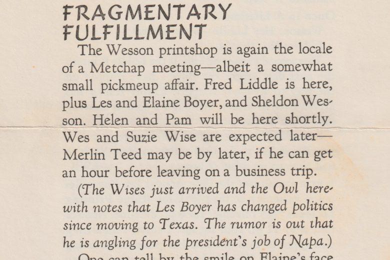 The Metropolitan Amateur - Number 22, November 1971 - Page 1