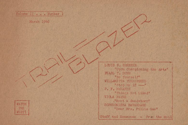 Trail Blazer - Volume 2, Number 1, March 1946 - Front Cover